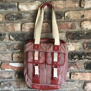 1990s shoulder bag, railroad conductor pattern